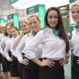 CeBIT Messehostessen-Team Kaspersky