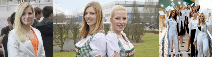 Messehostessen zur interpack Messe in Düsseldorf